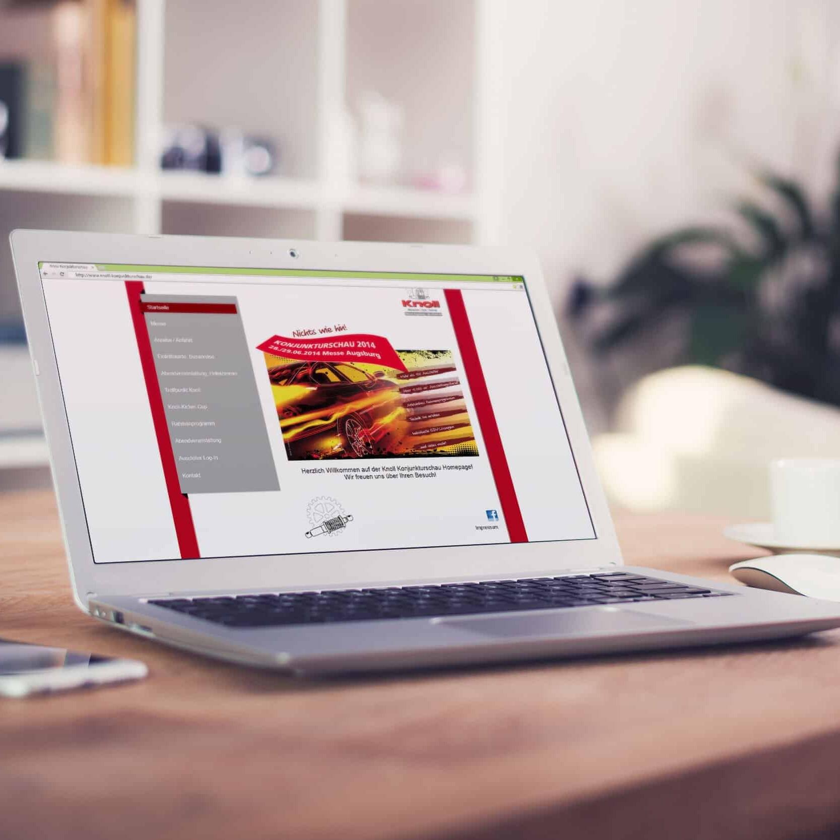 Webseite Knoll Konjunkturschau 2014