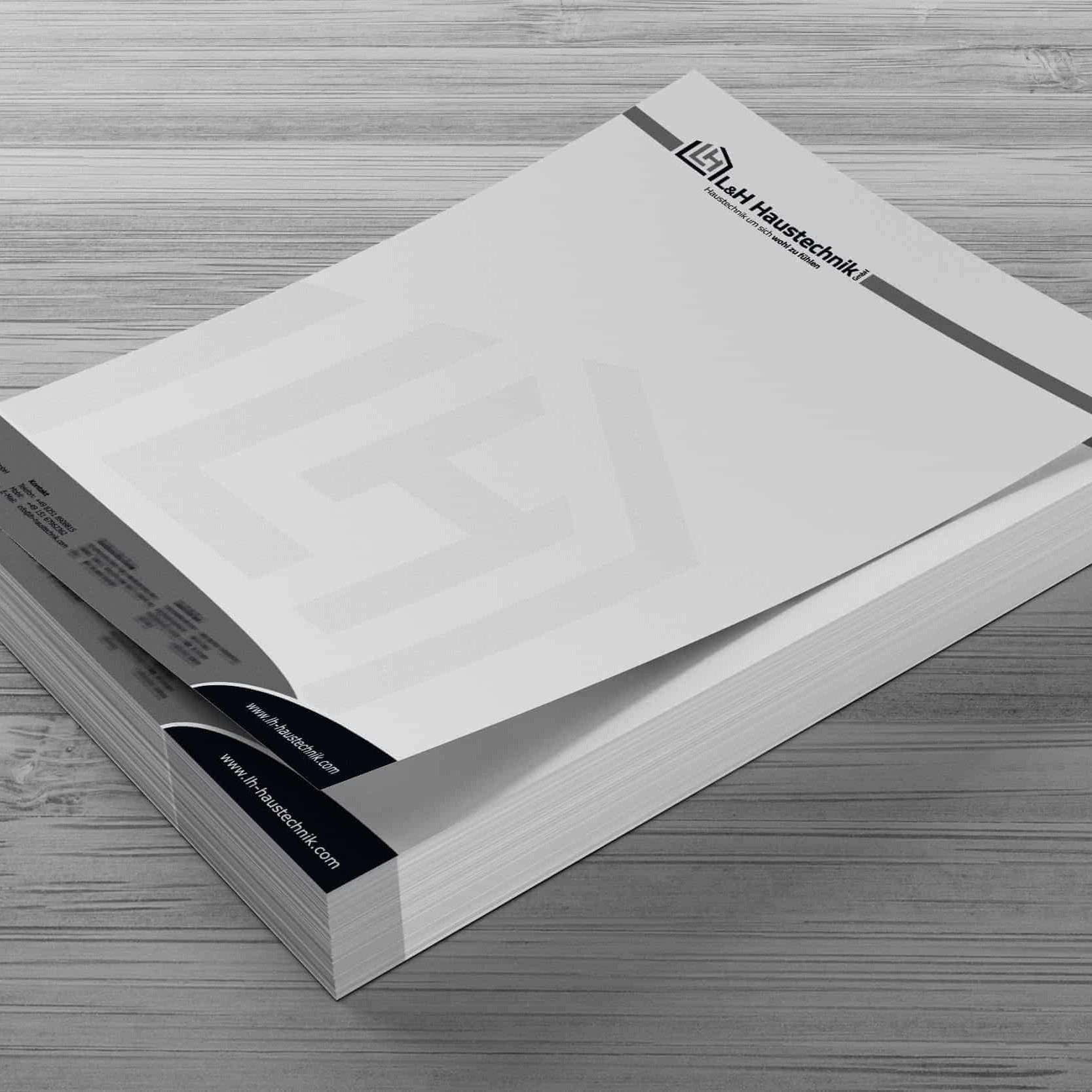 Briefpapier L&H Haustechnik GmbH