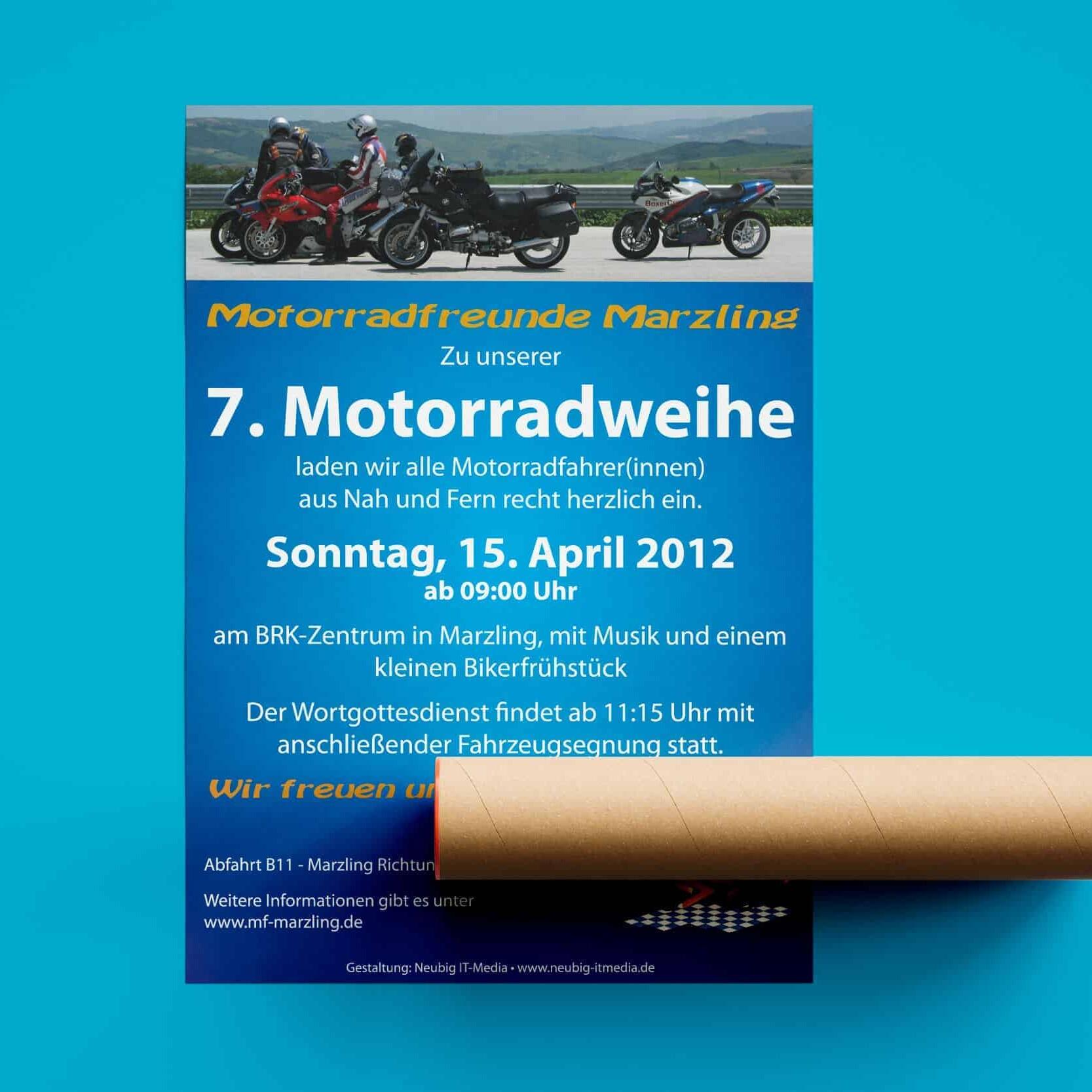 Plakat Motorradfreunde Marzling
