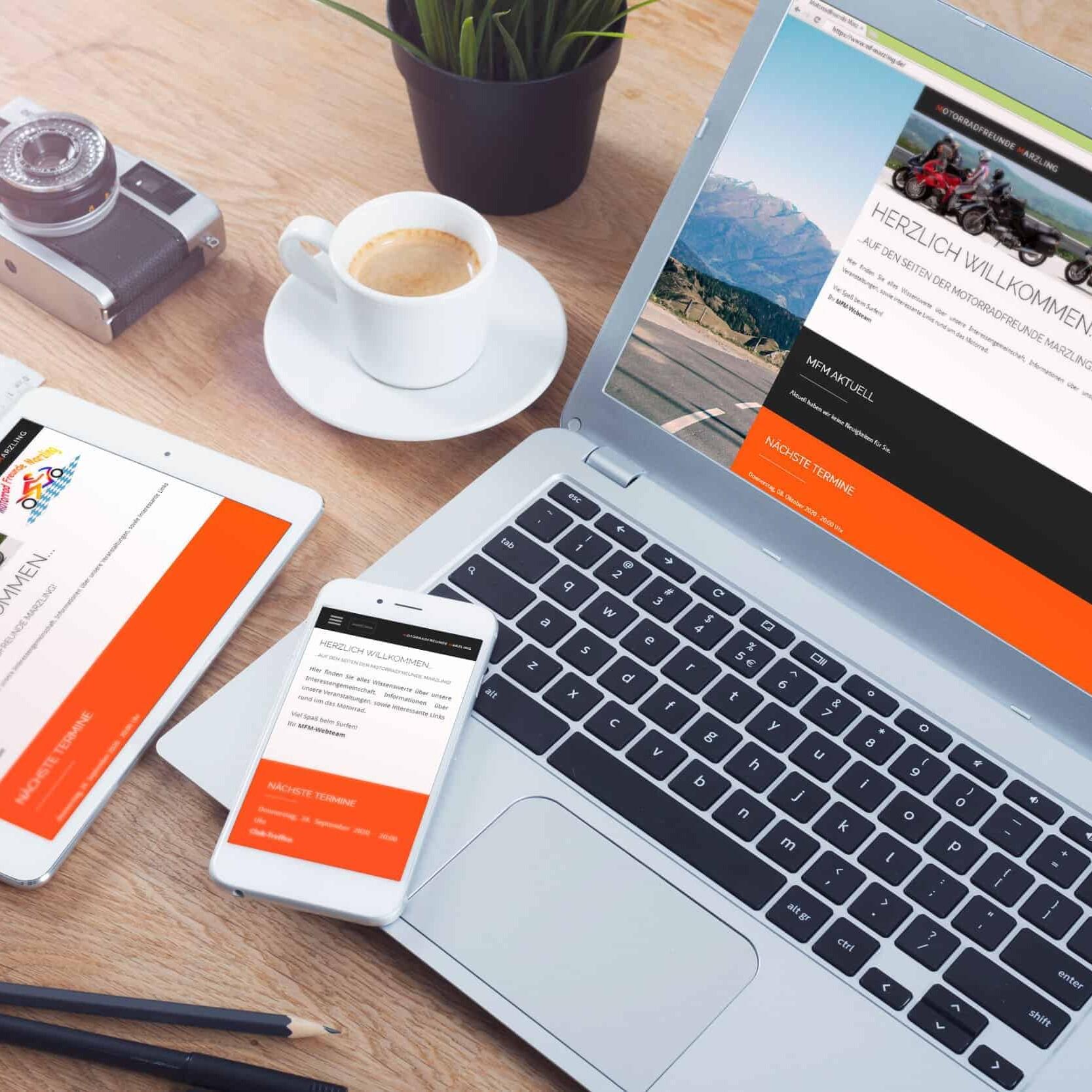 Webseite Motorradfreunde Marzling